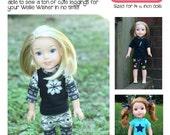 Leggings for Wellie Wishers Dolls Knit PDF Sewing Pattern Sized 14.5 inch dolls