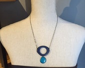 Two shades of blue necklace READY TO SHIP