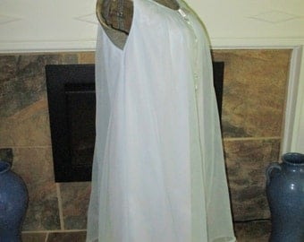 1960's Aristocraft Nylon Chiffon Nightgown Large Baby Blue Vintage lingerie