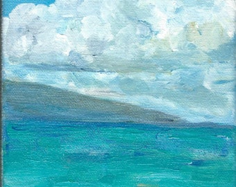 Ocean Painting  Tropical Island