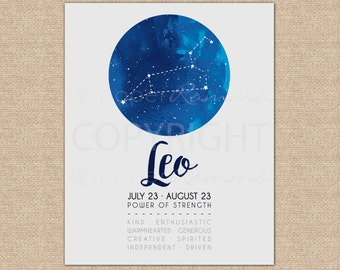 Space Nursery Decor, Leo Zodiac, Leo Constellation, Baby Nursery Art, Kids Room Art, Nursery Decor // ArtPrint or Canvas // N-XC01-1PS AA1