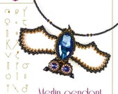 pendant tutorial / pattern Merlin the bat – PDF instruction for personal use only