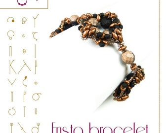 Bracelet  tutorial / pattern Ensta bracelet with superduo beads ..PDF instruction for personal use only