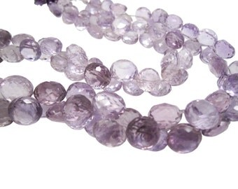 Pink Amethyst Beads, Pink Amethyst Briolettes, Luxe AAA, 9mm to 12mm, Onion Briolettes, Febuary Birthstone, SKU 4344A