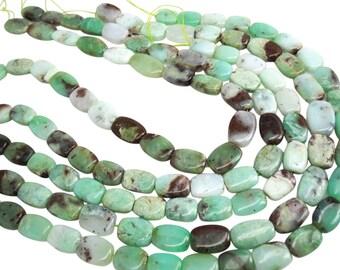 Chrysoprase Beads, Chrysoprase, Oval Shape, 11mm x 15mm, SKU 3959A