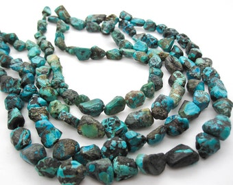 Turquoise Nugget, Turquoise Beads, Blue Turquoise, December Birthstone, SKU 5144A