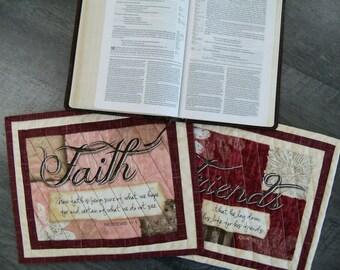 Mug Rugs Inspirational Religious Coasters Trivets Bible Verses