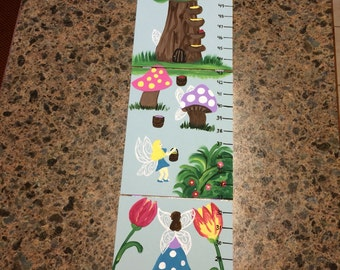 Foldable Children's Growth Charts, Fairies