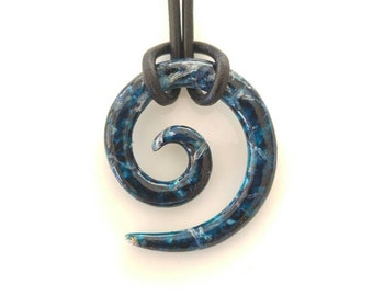Koru Tribal Pendant in Galaxy Blue