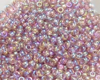 11/0 Japanese Seed Beads - Transparent Amethyst AB 256