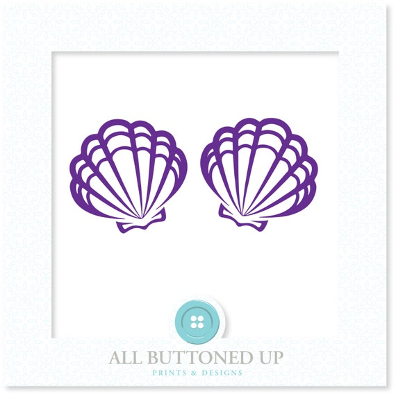 mermaid seashell bra digital cut file svg dxf