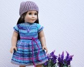 18'' doll clothes American Girl Lavender Hearts Outfit #1
