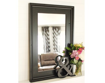 Black Wall Mirror- Alpine Over Mantle Mirror
