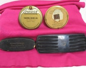 Reserved for Jana- Please dont buy-Lot of 4 Vintage Record Brushes Brush Advertising Brunswick Panatrope Electrostatic Yakima St. Joseph