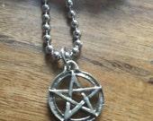 Petite Pentagram Pentacle Necklace