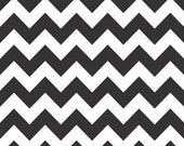 Sale - Black Chevron Fabric By The Yard - 100% cotton - Premier Prints - Decorator Fabric