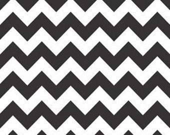 Sale - Black Chevron Fabric By The Yard - 100% cotton - Premier Prints - Decorator Fabric