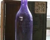 Large PURPLE BOTTLE- Hayner Whiskey Troy Ohio-Antique Amethyst Glass- Liquor Bottle- Patented 1897