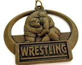 Wrestling Medal Crown Trophy Found Object Wrestler Pendant Award Sports Athletics