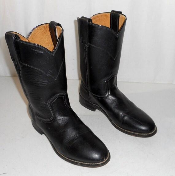 black roper style womens cowboy boots size 7 m western boho