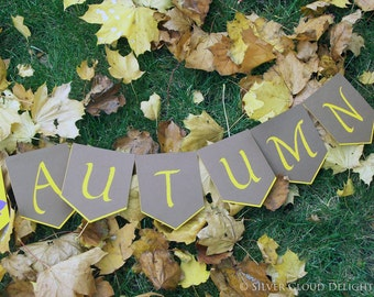 Fall Banner - Fall Decor - Happy Autumn Banner - Fall Garland - Thanksgiving Banner - Party Decorations - Fall Home Decor - Photo Props