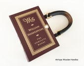 Shakespeare Book Purse - William Shakespeare Recycled Book - Literature Gift - Shakespeare Book Cover Handbag