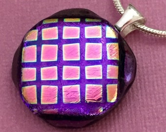 Off The Grid - Dichroic Glass Pendant Necklace