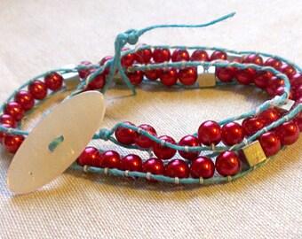 Physics Jewelry - Speed of Light Bracelet - Wrap Bracelet - Science Physics Teacher Birthday Graduation Gift - Nerdy Jewelry