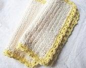Cotton Washcloth Set - Lemon Cream