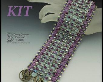 Blingy Karma Beadwoven Cuff Bracelet-  KIT