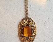ON SALE Dramatic Vintage Art Nouveau Style Necklace