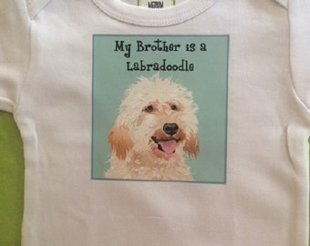 Labradoodle Bodysuit / Baby Clothes/Baby Boys' Bodysuit/Baby Girls' Bodysuit/Baby Shower Gift/Toddler tee shirt
