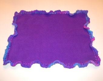 Purple Fleece Doll Blanket