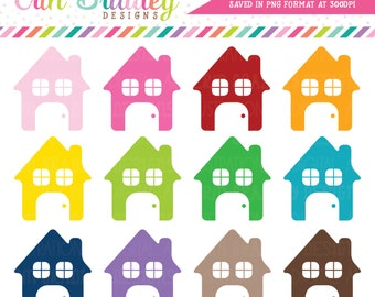House Clipart Graphics Instant Download Commercial Use Home Clip Art