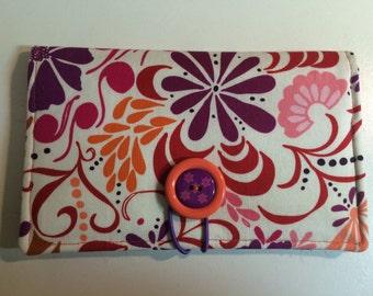 Purple Pop Art Flower Coupon Wallet