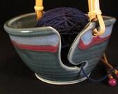 Yarn Bowl - Knitting Bowl - Blue Yarn Bowl - Gift For Knitters - Crochet Bowl - Yarn Holder - Yarn Bowl Pottery - Pottery Yarn Bowl -InStock