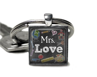 Teacher, Charm, Keychain, Personalized, Teacher Gift, Teacher Appreciation, Thank You Gift, Back to School, Gifts for Her