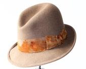 Men's Hats- Fedora- 1930s Hats- Men's Hat- Men's Gift- Men's Fedora- 1920s Hat- 1940s Hat- Men's Gifts- Men's Felt Hat- Open Crown Fedora