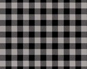 fabric | buffalo check plaid gingham gray + black check fabric BTY | 100% cotton | grey checkerboard Paper Dolls camping On the Road 5154