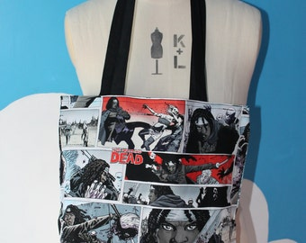 the walking dead comic tote bag