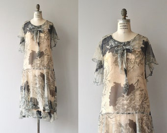 Abendlied dress | 1920s silk chiffon dress | vintage 20s floral dress