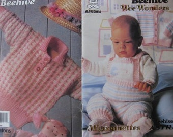 Knitted Baby Patterns by BeeHive, Book No. 478, Vintage, Actual Patern Booklet - NOT A DIGITAL DOWNLOAD