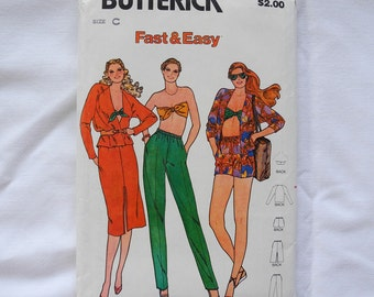 Vintage Butterick 6577 sewing pattern, 1970s, Misses outfit, Quick, Fast and Easy, vintage size 12, 14, 16