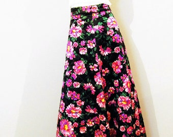 Vintage Hot Pink Quilted Hollywood Hostess Skirt