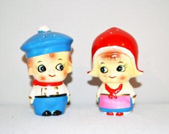 Kitsch Salt & Pepper Shakers Big Eye Pair