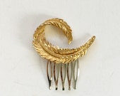 Charming Gold Feather Hair Comb  Head Piece Tiara READY TO SHIP