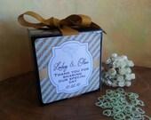 48 Personalized Favor Boxes, Cupcake Boxes, Succulent Favor Boxes, Baby Shower, Wedding Favor, Bridal Shower, Baptism