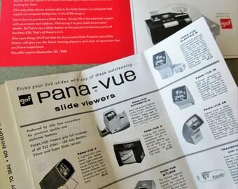 Vintage Panavue Ephemera, GAF Slide Catalog, Pana Vue Slide Catalogue, GAF Ephemera, Paper Ephemera, Slide Projector Ephemera