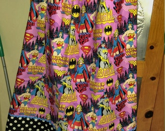Cute Super girl print  pillowcase dress size 5/6