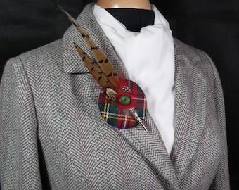 A tartan brooch